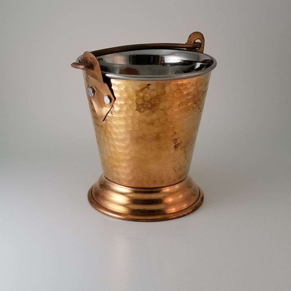 Copper & SS Serving Bucket with Handle