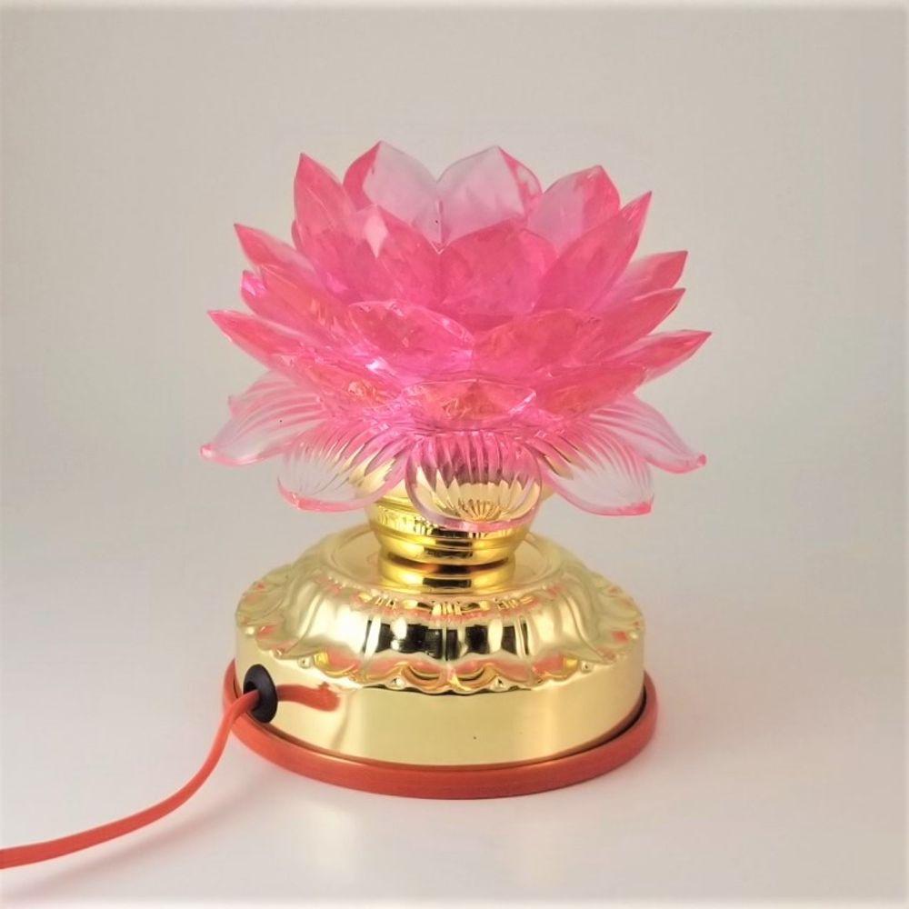 Pink Lotus Lamp Light