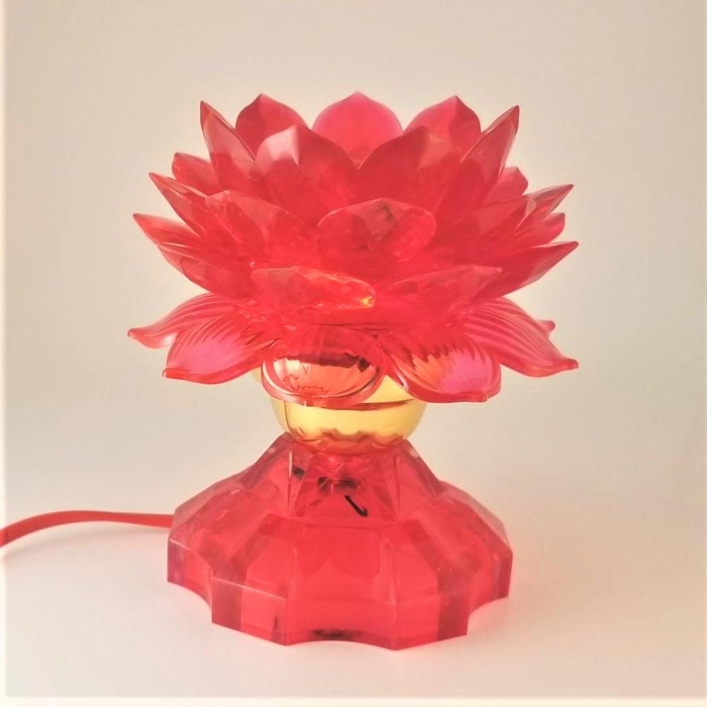 Red Lotus Lamp Light