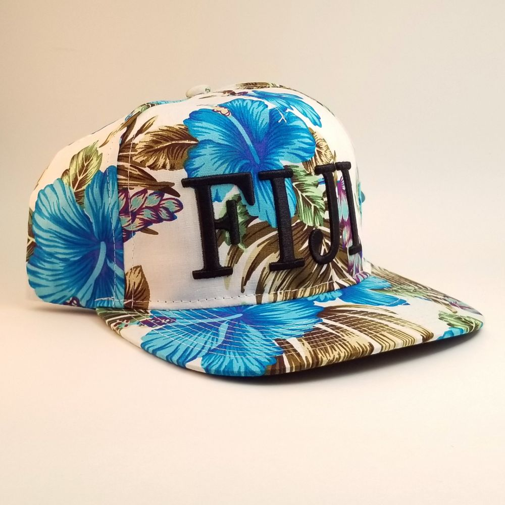 White and Blue Fiji Hat