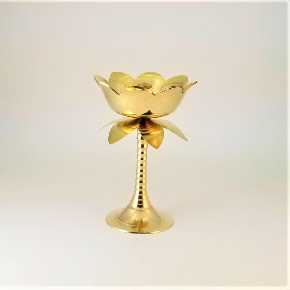 Brass Lotus Diya Stand