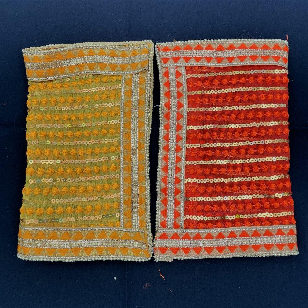 Chunari w/ Gold Sequins (30x25)