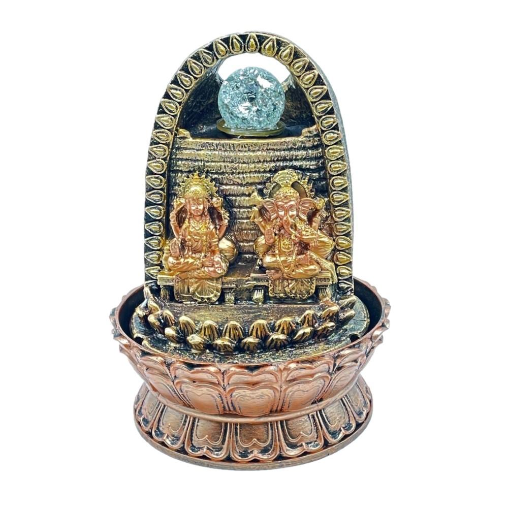 Laxmi Ganesh Fountain w/ Crystal Ball